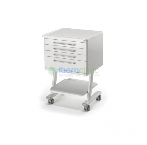 4 DRAWERS WHITE LAMINATED TOP MOBILE TROLLEY MOD. RC4K